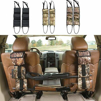 Back Seat Gun Sling Rack Rifle Shotgun Storage Ammo Pickup Camo Truck Holder