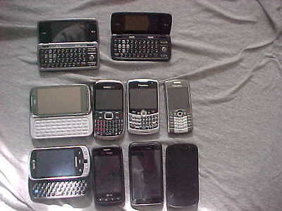 10 Cell Phones   Blackberry, Samsung ,LG , Huawei,HTC,