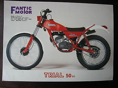 Brochure Catalogue 1982 Moto Fantic  Trial 50