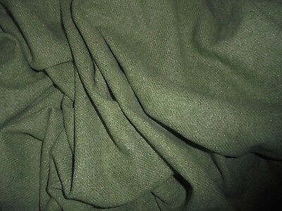 LG Antique Vintage Green 100% Wool Fabric Doll Dress Costume Victorian Dickens