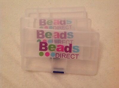 Beads Direct Storage Containers x 3 (empty) Findings, Jewellery, Sewing, Etc