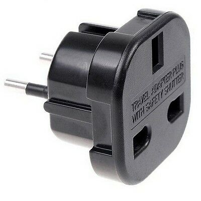 ADAPTADOR ENCHUFE UK REINO UNIDO A EUROPEO ENCHUFE INGLES  EUROPEO RED casa