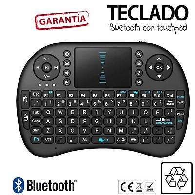 Teclado Inalambrico MINI Smart TV RII I8 con Touchpad Bluetooth Tele NEGRO