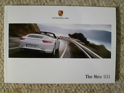 """2012 Porsche 911 """"The New 911"""" Showroom Sales Brochure RARE!! Awesome L@@K"""