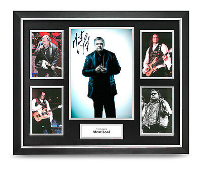 Meat Loaf Signed Photo Large Framed Display Music Autograph Memorabilia COA