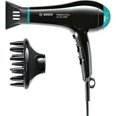 Bosch PHD7962GBC ClassicCoiffeur AC Cool Shot Hair Dryer 2500 Watts Lightweight