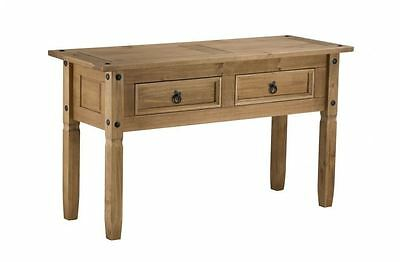 Corona Console Hall Table / Dressing Table Mexican Pine Free Next Day Despatch