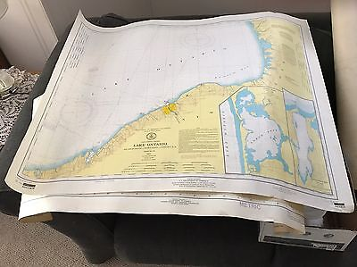 5 Maps Great Lakes NOAA National Ocean Survey Michigan,Ontario,Erie,St Lawrence