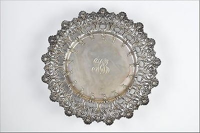 Tiffany & Co. Sterling Silver Reticulated Tray in Floral Pattern