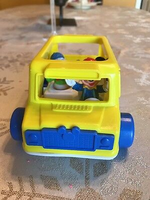 Vtg Arco Disney Car Donald Duck And Mickey Mouse Figure