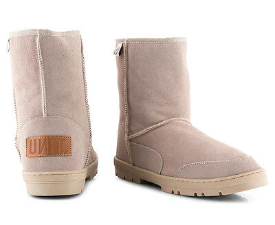 Unit Men's Rider Leather Ugg Boot - Dune