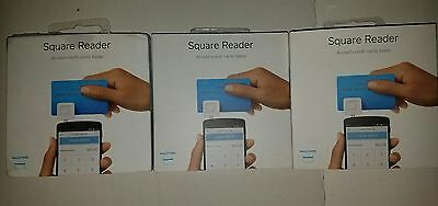 3 THREE Square Credit Card Reader for Apple and Android Devices -   FREE SHIP