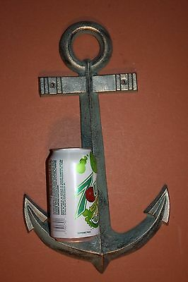 (1) Large Antique-look Anchor Wall Plaque, Bronze-look cast iron Anchor ,BL-68