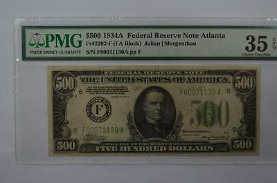 WITHDRAWN LOT: $500.00 Federal Reserve Note Lot 176