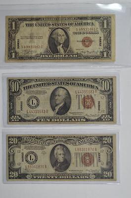 A threesome of highly collectible HAWAII overprint emergency notes Lot 169