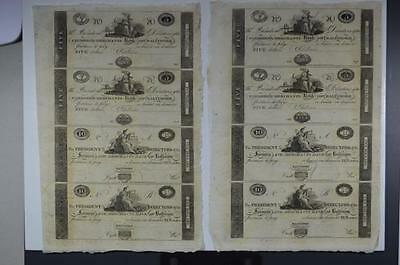 A Quintet of Uncut Obsolete Currency Sheets Lot 144
