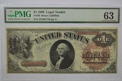 $1.00 Legal Tender Note. Series of 1880, Fr-29. PMG Ch UNC 63 Lot 145