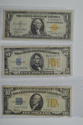 A trio of popular North Africa yellow seal Silver Certificates: Lot 170