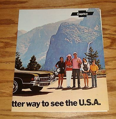Original 1972 Chevrolet Caprice Facts Features Sales Sheet Brochure 72 Chevy