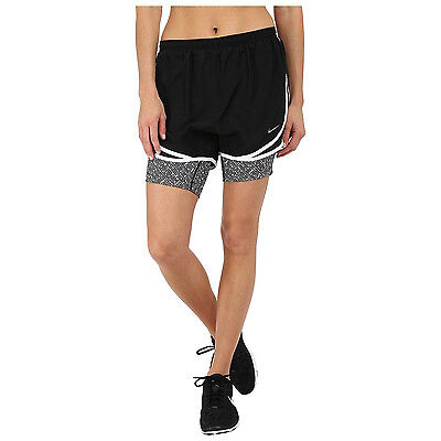 Nike 2-in-1 Tempo Printed Compression Women's Running Tights Shorts $40