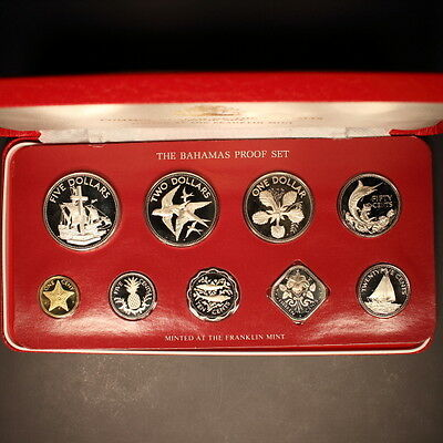 "Bahamas 1982 ""Ships-Birds-Flower"" 9pc. Gem Proof Set"