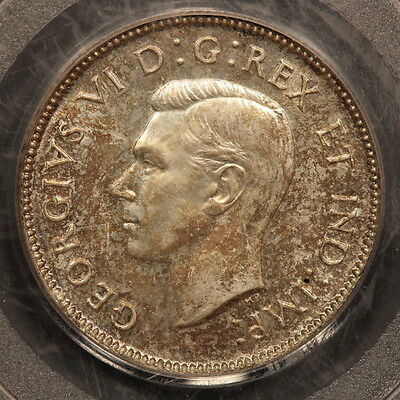 Canada 25 Cents 1947 Silver PCGS MS64