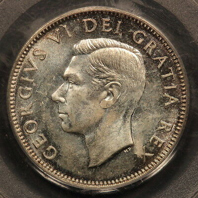 Canada 25 Cents 1948 Silver PCGS MS64