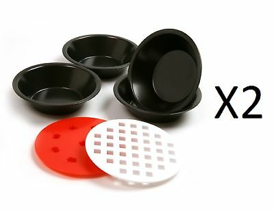 Norpro Mini Non Stick Pie Pan Set Of 4 With Pie Top Cutters (2-Pack)