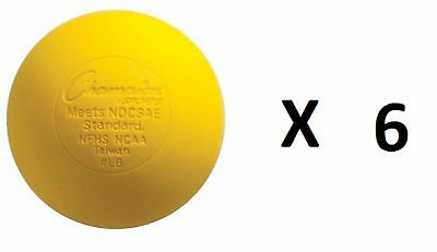 Champion Lacrosse Ball Official NFHS NCAA Massage Therapy-YELLOW (6-Pack)