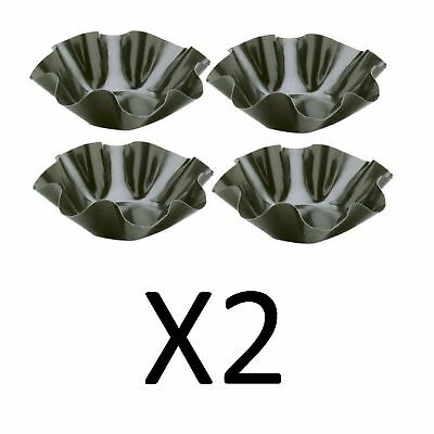 "Norpro 4.5"" Black Mini Nonstick Tortilla Taco Salad Bowls, Set Of 4 (2-Pack)"
