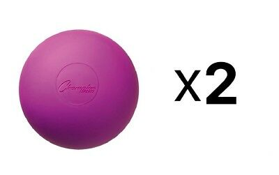 Champion Sports NCAA/NFHS Official Size Rubber Lacrosse Ball, Purple (2-Pack)
