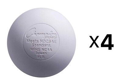 Champion Lacrosse Ball Official NFHS NCAA Massage Therapy-WHITE (4-Pack)