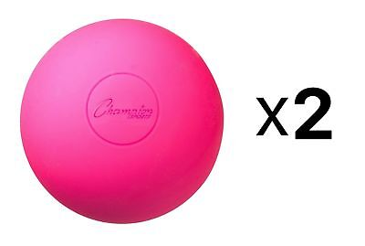 Champion Lacrosse Ball Official NFHS NCAA Mobility Massage Therapy-PINK (2-Pack)