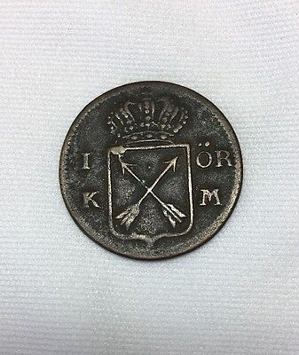 1749 KM FRS Sweden 1 Ore Coin KM# 383.3 MUST SEE