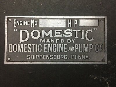 NEW Domestic Etched Aluminum Tag Antique Gas Engine Hit Miss