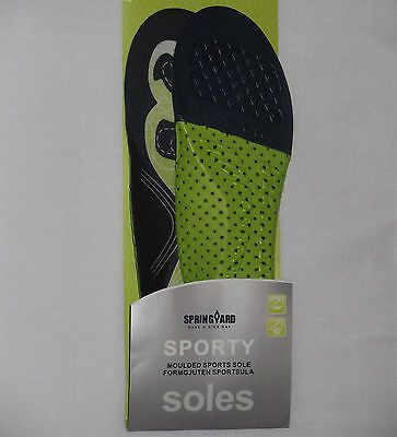 New Sports Insoles Shoe Inserts Shock Absorbing Moulded Cushioning Arch Support