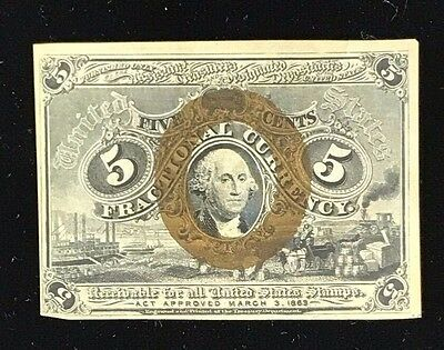 Second Issue 5 Cent Fractional Currency