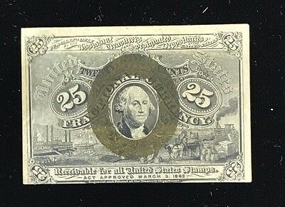Second Issue 25 Cent Fractional Currency