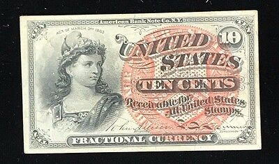 Fourth Issue 10 Cent Fractional Currency