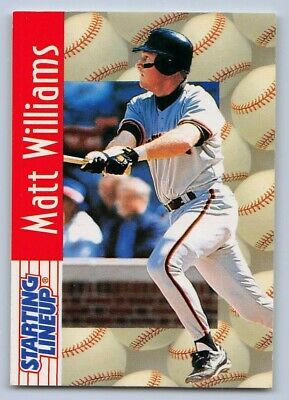 1996 Matt Williams San Francisco Giants Starting Lineup in pkg w// Baseball Card