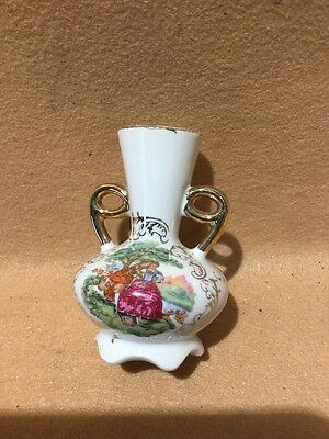 Early 20Th Century Miniature Vase, Hand Painted