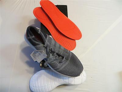 ADIDAS element refine tricot running  (B35534) SZ 10.5 GREY/ORANGE RET$70 NIB