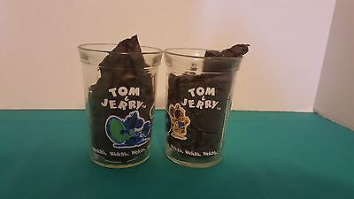 Welch's Collectible Jelly Jar Set of 2 Tom & Jerry 1991 Sports Series