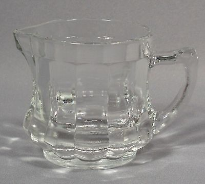 """Post Cereals Measured Creamer, Clear Glass, 2 ¾"""" Tall, 2 ½"""" Dia., Ca. 1940s"""