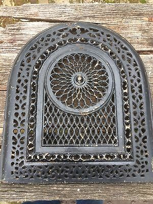 Vintage Cast Iron Fireplace Summer Cover- Arched Top- Great for the Garden