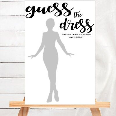 Bridal Shower Game :  Guess The Dress - Hens Night Unique Game