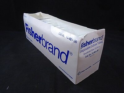 FISHERBRAND Glass 12 x 75mm Disposable Borosilicate Tube Plain B (Case of 190)