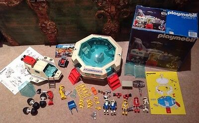 PLAYMOBIL PLAYMOSPACE 3536 SPACE STATION 100% COMPLETE 1980 w Box & 3534 SHUTTLE