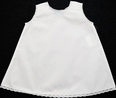Infant Girls White Knee Length Undergarment Slip W/lace Trim~9M, 18M~Nwt's