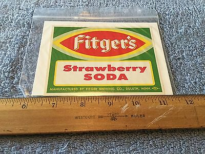 Vintage Fitgers Strawberry Soda Label Duluth Minn